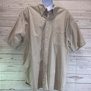Eddie Bauer 100% Linen Short Sleeve Button Shirt